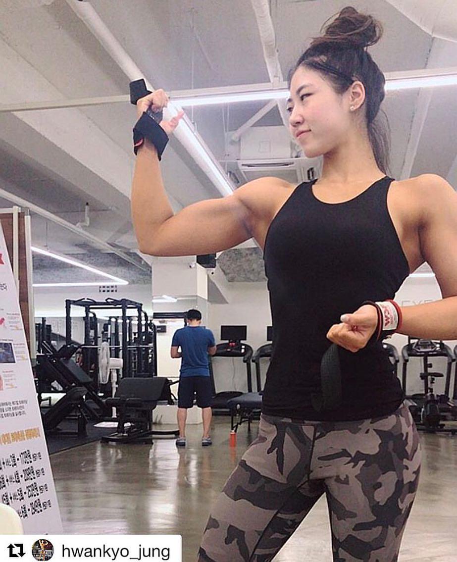 Jeong Myeong-Gyeong   Beautiful Muscle Girls