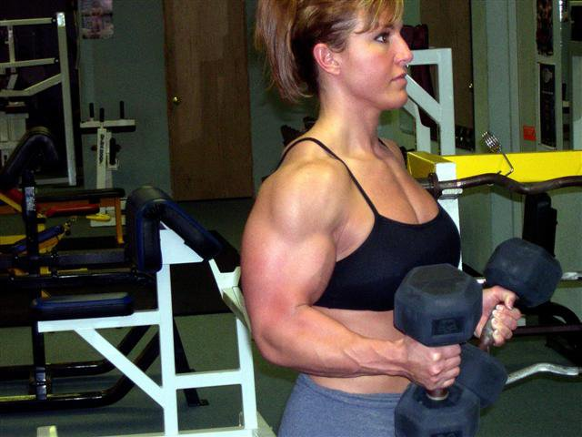 hot female bodybuilder with muscle body and muscle booty